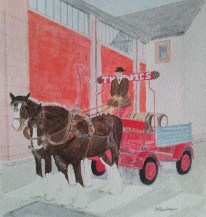 The Shires are coming to town. Watercolour. - Jan David Lindgren