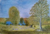 View of the lake - Watercolour by Jan David Lindgren