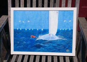Sailing Race. Oil on prime linen by Jan David Lindgren