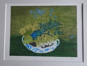 Giclée Fine Art Print. Original painting Spring Tureen by JDL