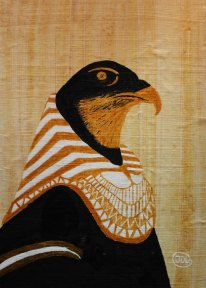 Horus. Acrylic on Papyrus by JDL