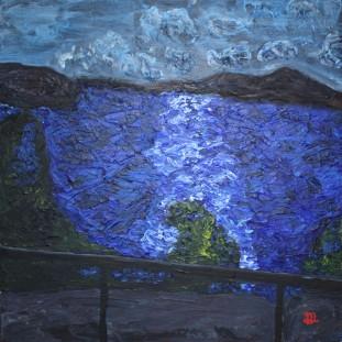 Edsviken. Acrylic painting by Jan David Lindgren