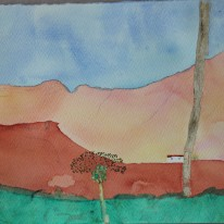 Mountains in Mogán. Watercolour by Jan David Lindgren!