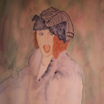 Portrait in watercolour by Jan David Lindgren