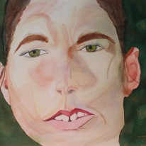 Woman Face. Watercolour by Jan David Lindgren.