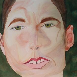Woman Face. Watercolour by Jan David Lindgren.