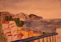 From Calle Bajamar. Watercolour by Jan David Lindgren