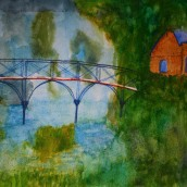 The Swiss Bridge. Watercolour by Jan David Lindgren