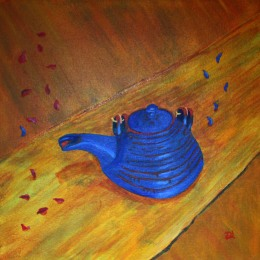 Teapot. Acrylic painting by Jan David Lindgren