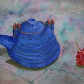 Teapot. Watercolour by Jan David Lindgren