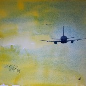 Flight. Watercolour by Jan David Lindgren