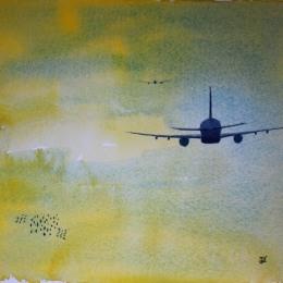 Flight. Watercolour by Jan David Lindgren